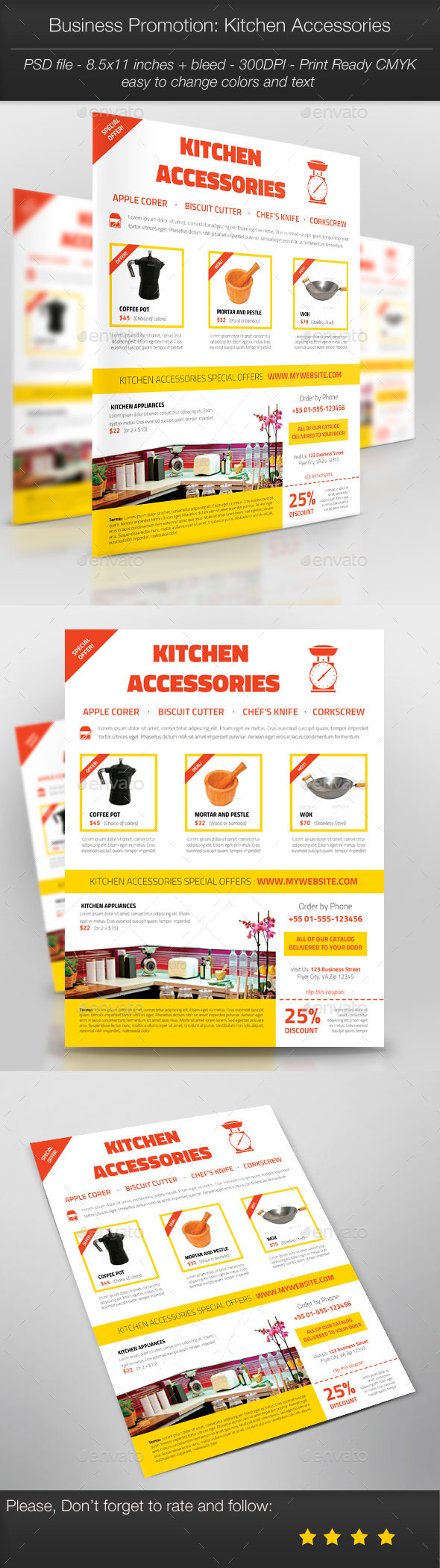 GraphicRiver Business Promotion Kitchen Accessories 11024477
