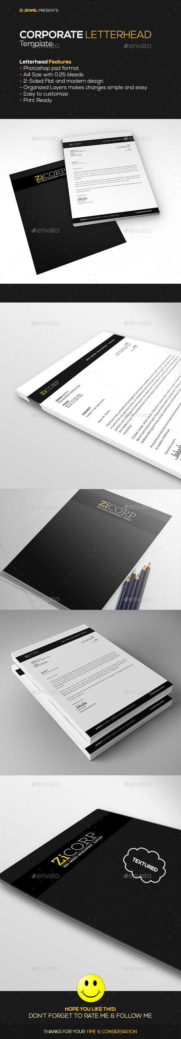 GraphicRiver Corporate Letterhead 11024480