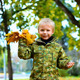 Happy Child Playing in Autumn Park - VideoHive Item for Sale