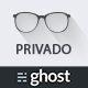 Privado - Minimal Blogging Theme for Ghost - ThemeForest Item for Sale