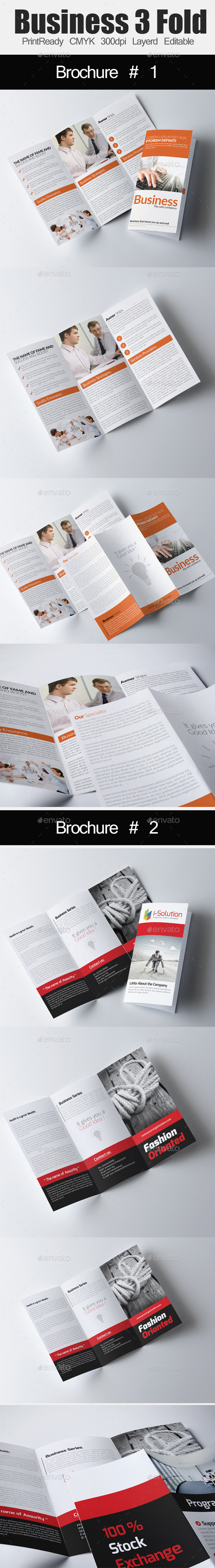 GraphicRiver Tri Fold Business Brochure Bundle 11024547