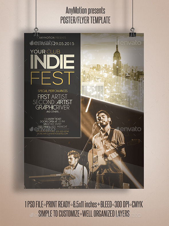 GraphicRiver Indie Fest Flyer 11024784