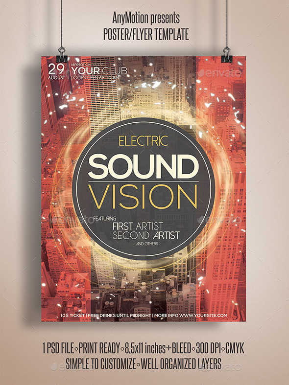 GraphicRiver Sound Vision Flyer 11024899