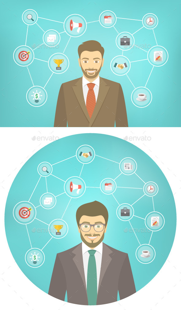 GraphicRiver Modern Businessman Conceptual Infographics 11024917