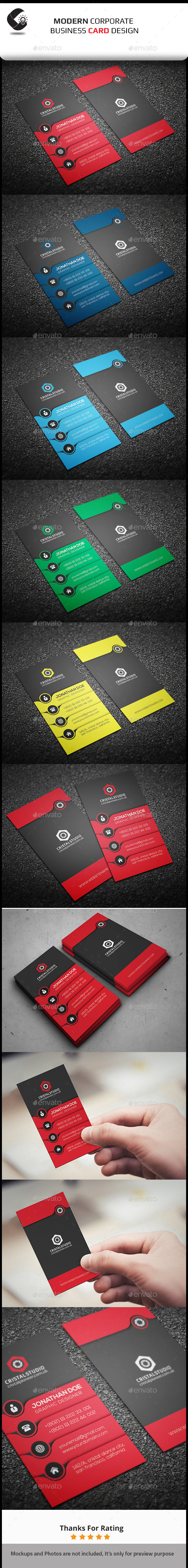 GraphicRiver Creative Business Card-Vertical 11024986