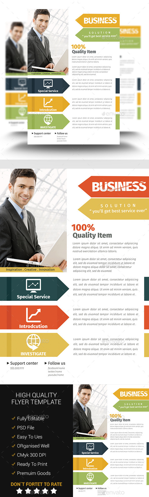GraphicRiver A4 Corporate Flyer Template10 11025010