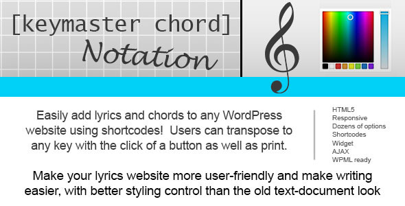 CodeCanyon Keymaster Chord Notation 10991332