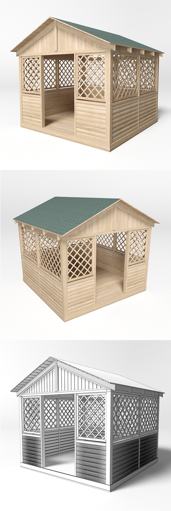 Gazebo 8 - 3DOcean Item for Sale