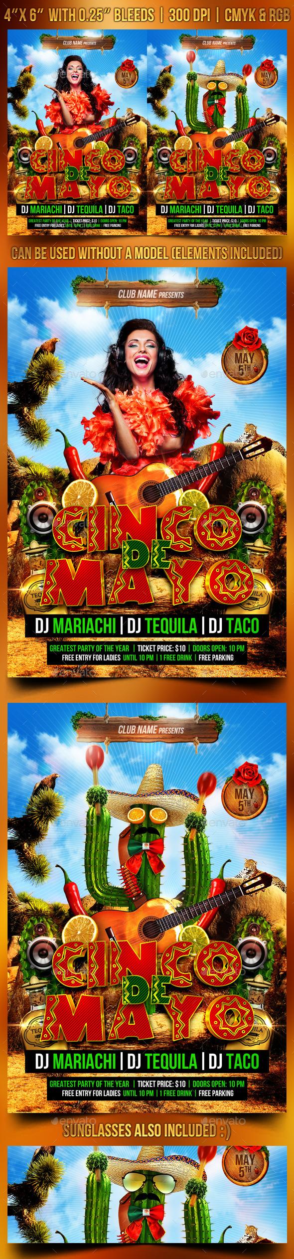 GraphicRiver Cinco de Mayo Flyer Template 11025105