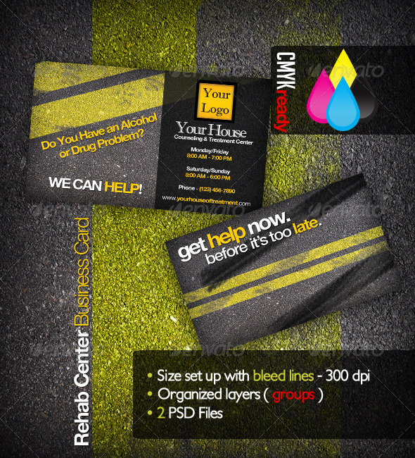 GraphicRiver Rehabilitation Business Card 135915