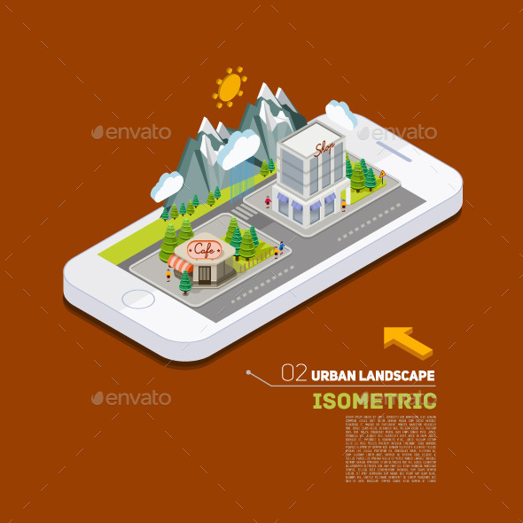 GraphicRiver Flat Landscape Street Concept 11025143
