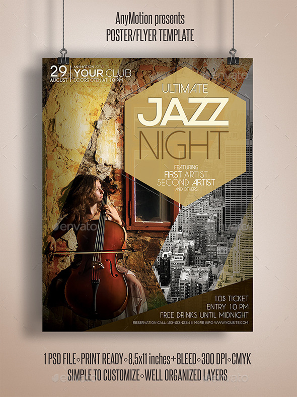 GraphicRiver Jazz Night Flyer Poster 11025150