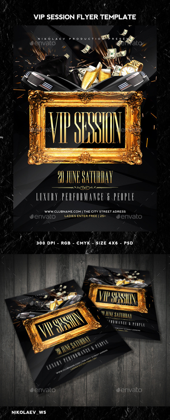 GraphicRiver Vip Session Flyer 10993206