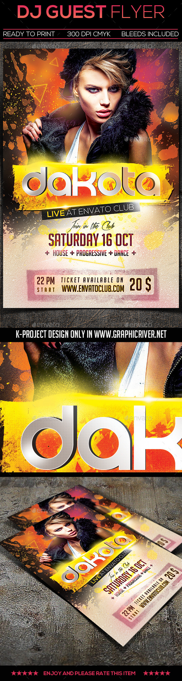 GraphicRiver Guest DJ Flyer 11025571