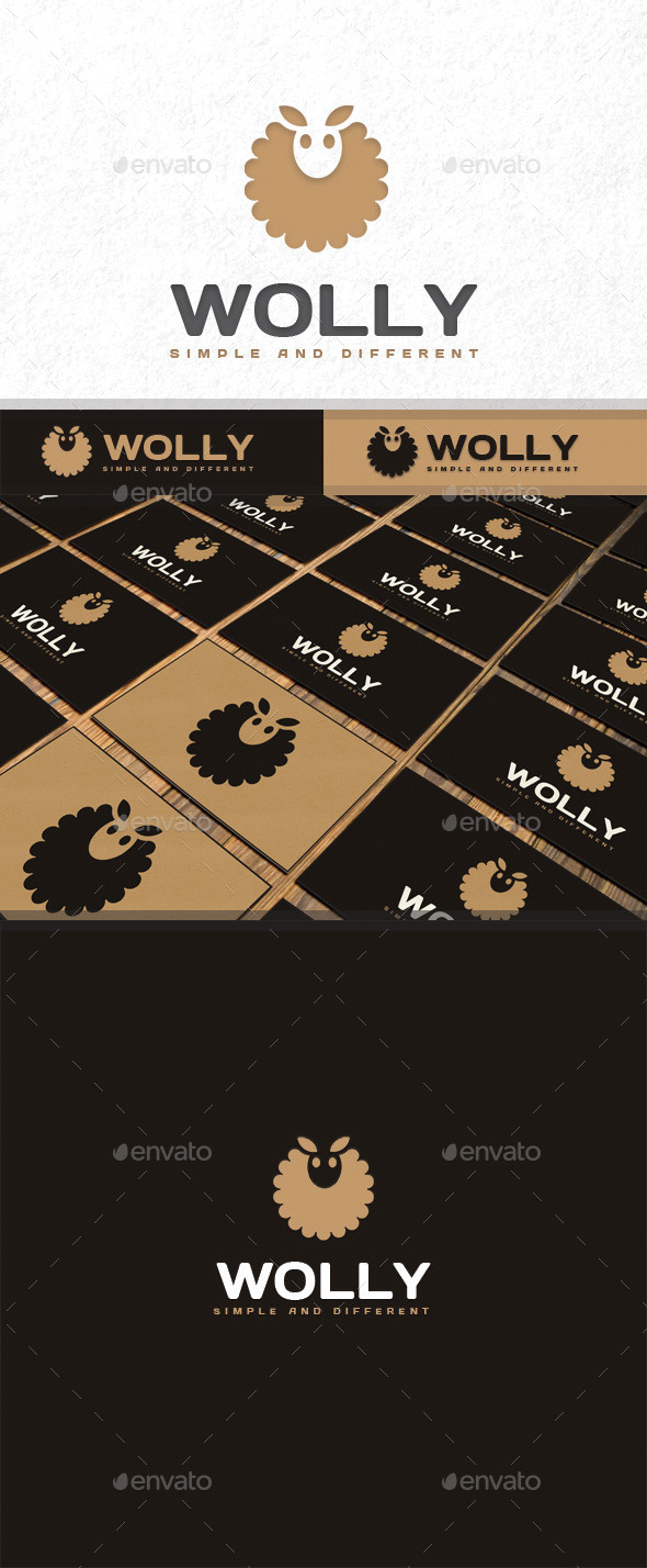 GraphicRiver Wolly Logo 10987222