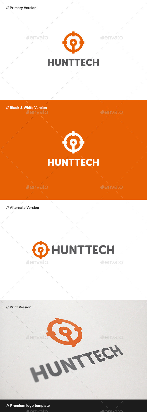 GraphicRiver Hunt Tech Logo 11025750