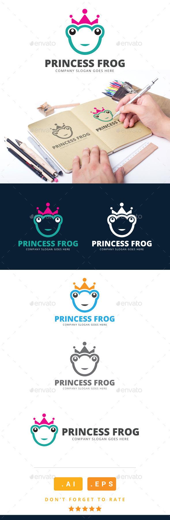 GraphicRiver Princess Frog Logo 11025763