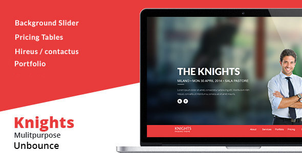 ThemeForest Knights Multipurpose UnbounceTemplate 11025818