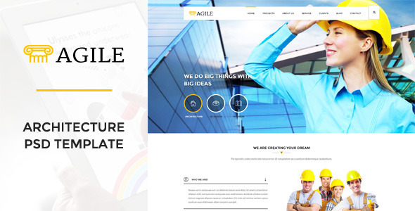 ThemeForest Agile Building & Construction PSD Template 10997515