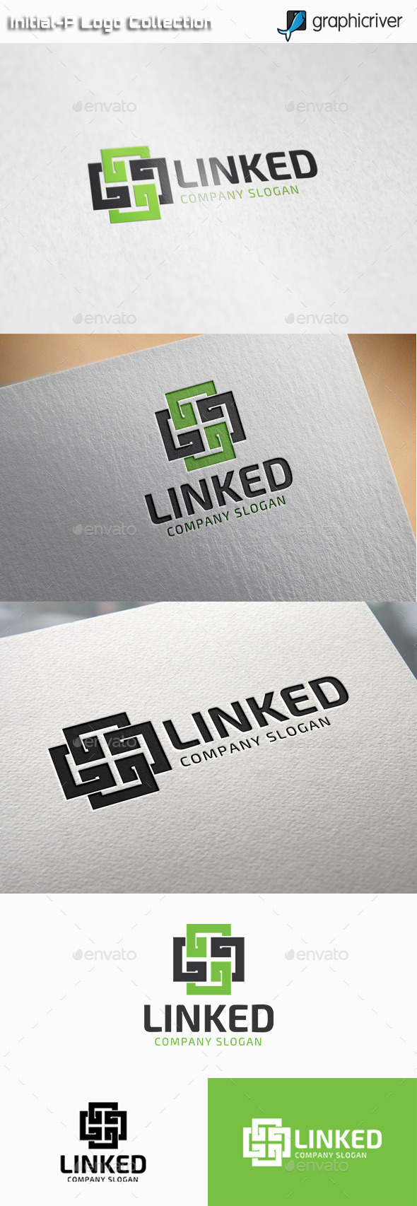 GraphicRiver Linked Square Logo 11025906