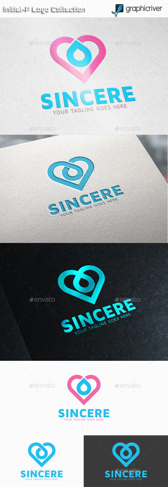 GraphicRiver Sincere Heart Logo 11025949