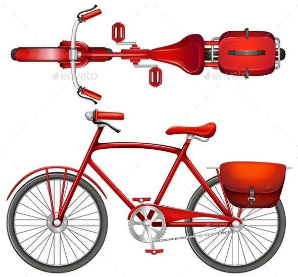 GraphicRiver A Red Bicycle 11025971