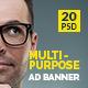 Multipurpose Web Ad Banner - GraphicRiver Item for Sale