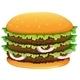 Big Hamburger with Sesame Seeds - GraphicRiver Item for Sale