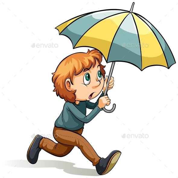 GraphicRiver Boy with an Umbrella 11026029