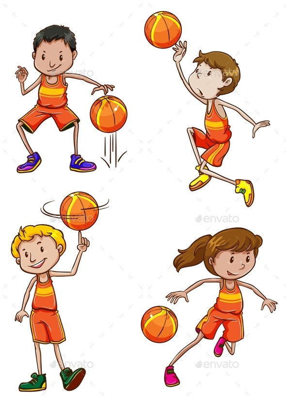 GraphicRiver Young Basketball Players 11026241