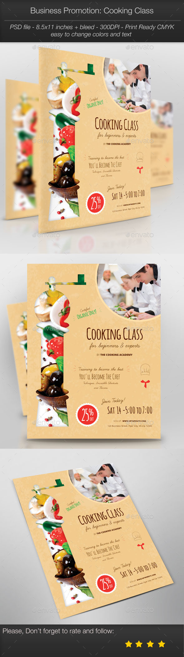 GraphicRiver Business Promotion Cooking Class 11026286