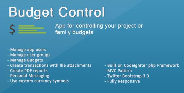 CodeCanyon Budget Control 10998323