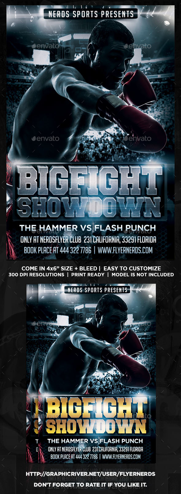 GraphicRiver Big Fight Showdown Boxing Championships Flyer 11026589