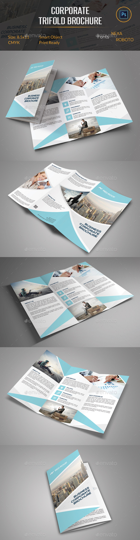 GraphicRiver Corporate Trifold Brochure 11026619