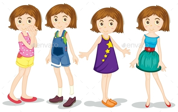 GraphicRiver Young Girls 11026643