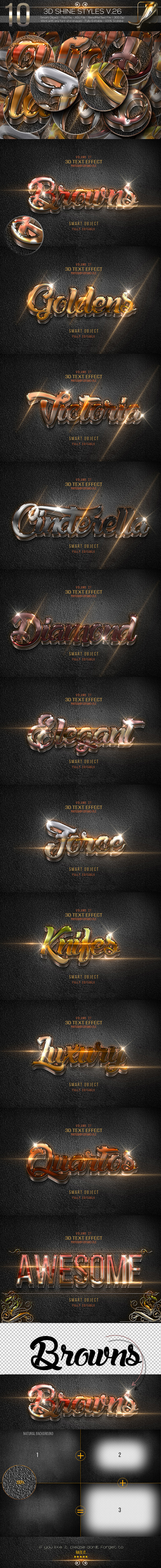 GraphicRiver 10 3D Text Styles V.26 11026648