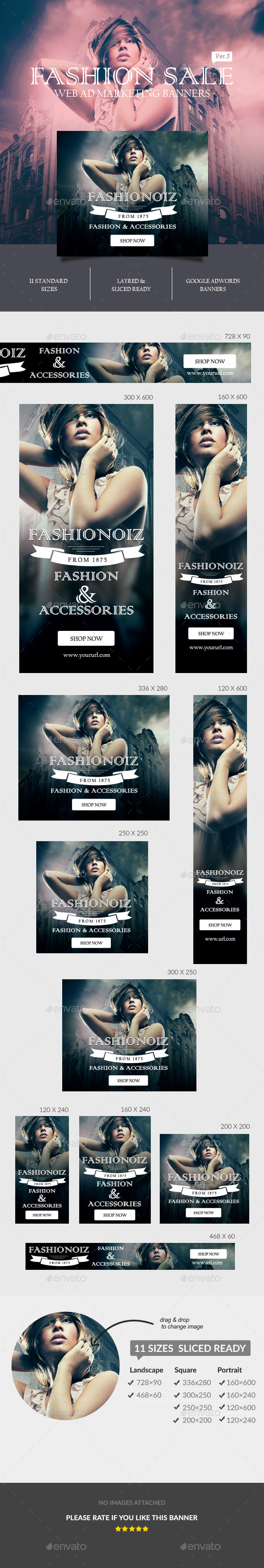 GraphicRiver Fashion Sale Ad Banners 11026927