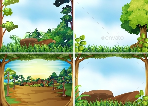 GraphicRiver Forest Scenes 11027220