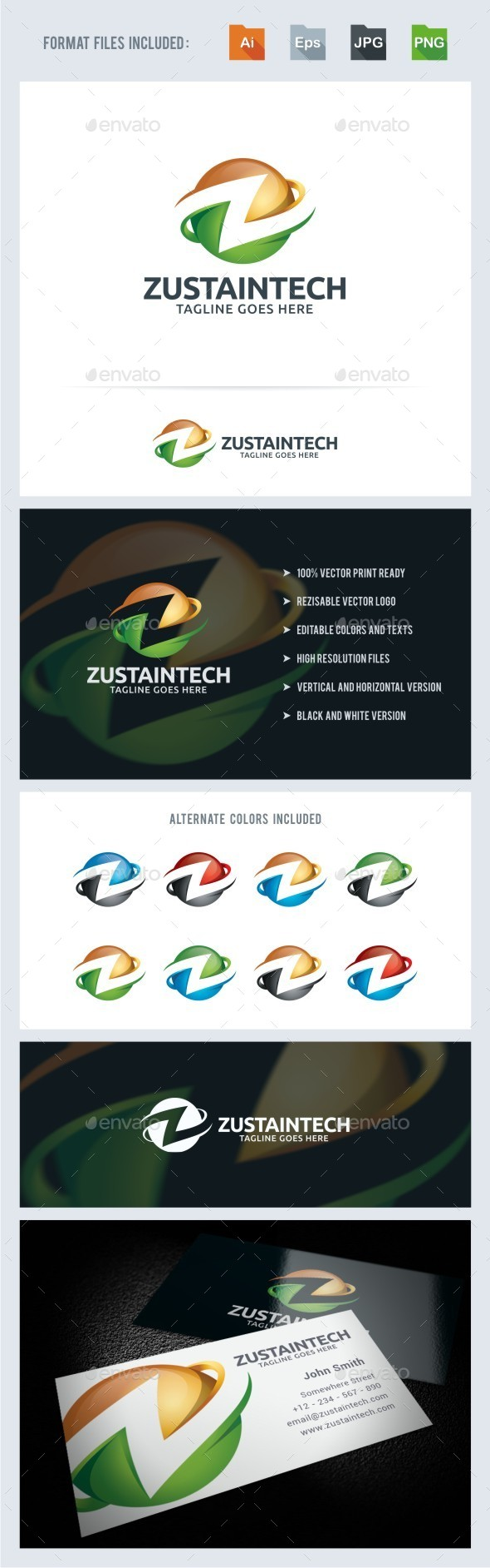 GraphicRiver Z Letter 3D Sphere Logo Template 11027554