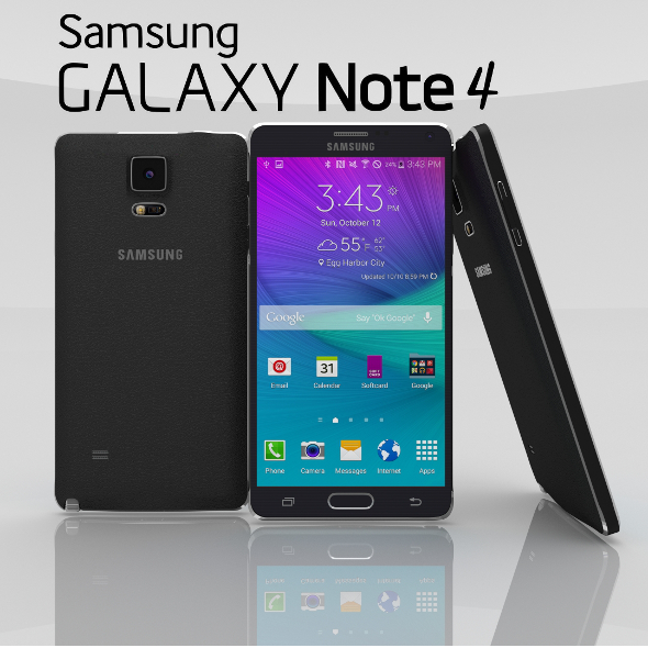3DOcean Samsung Galaxy Note 4 Charcoal Black 11027593