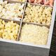 assortment of pasta in a wooden box - PhotoDune Item for Sale