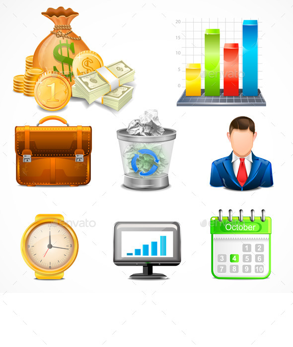 GraphicRiver Icons Items of Business Vector 11027799
