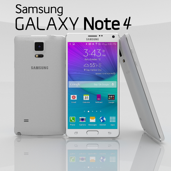 3DOcean Samsung Galaxy Note 4 Frosted White 11027810