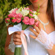 Wedding Bouquet of Flowers in Hands of Young Bride - VideoHive Item for Sale