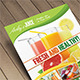 Fruit Juice Menu Flyer / Magazine Ad - GraphicRiver Item for Sale