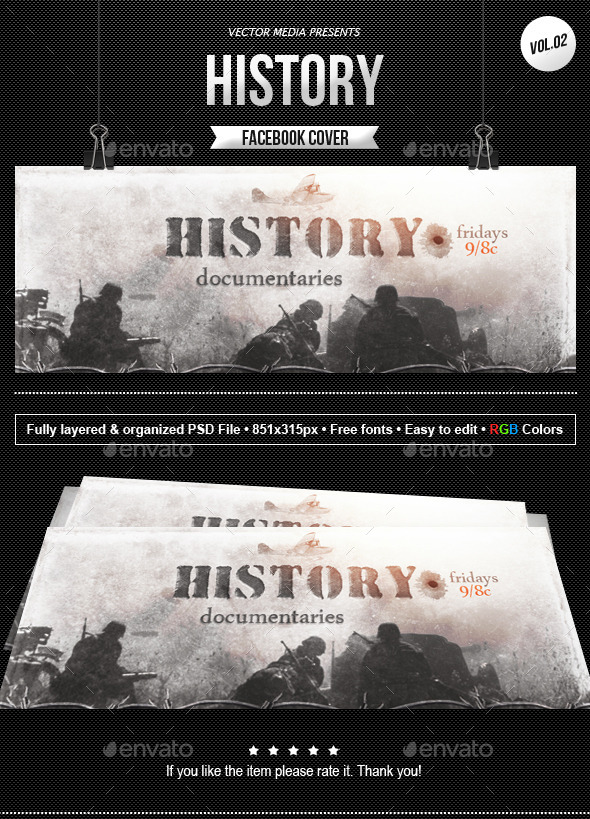 GraphicRiver History Facebook Cover [Vol.2] 11027881