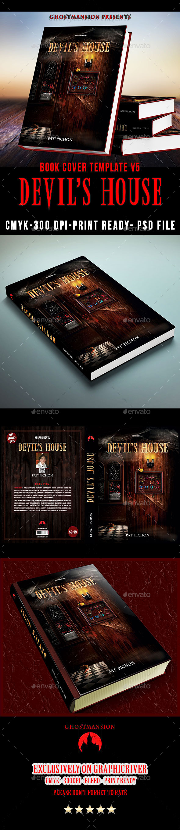 GraphicRiver Book Cover Template V5.Devil s House 11027943