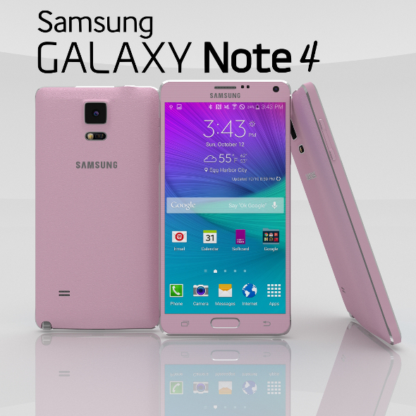 3DOcean Samsung Galaxy Note 4 Blossom Pink 11027990