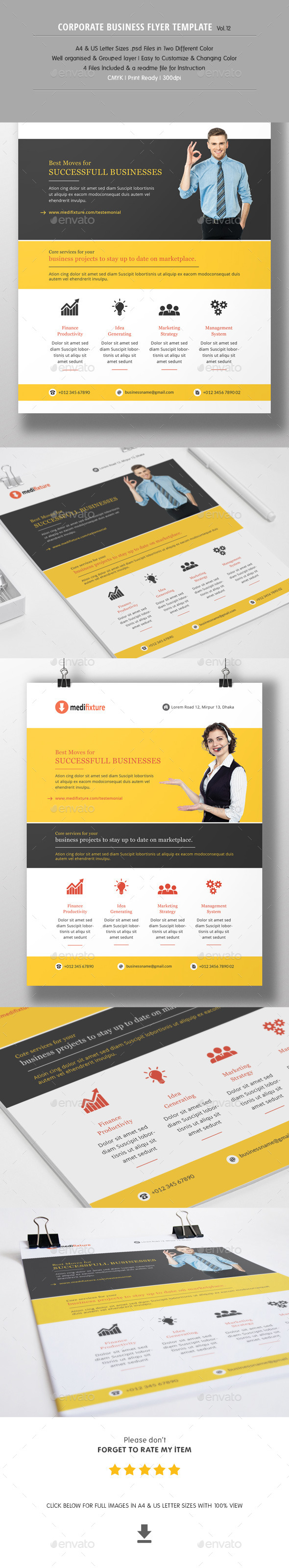 GraphicRiver Corporate Business Flyer Vol.12 10981629