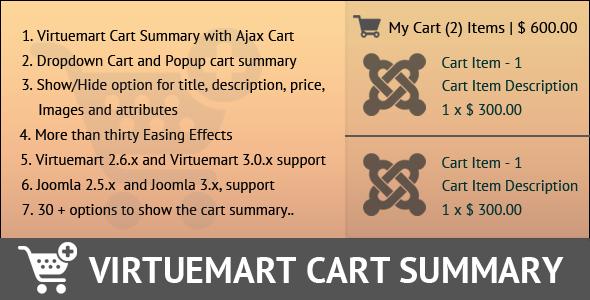 CodeCanyon Virtuemart Cart Summary 11028210